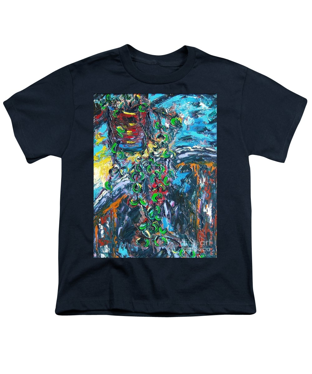 Abstract Paintings Youth T-Shirt featuring the painting Still Life by Seon-Jeong Kim