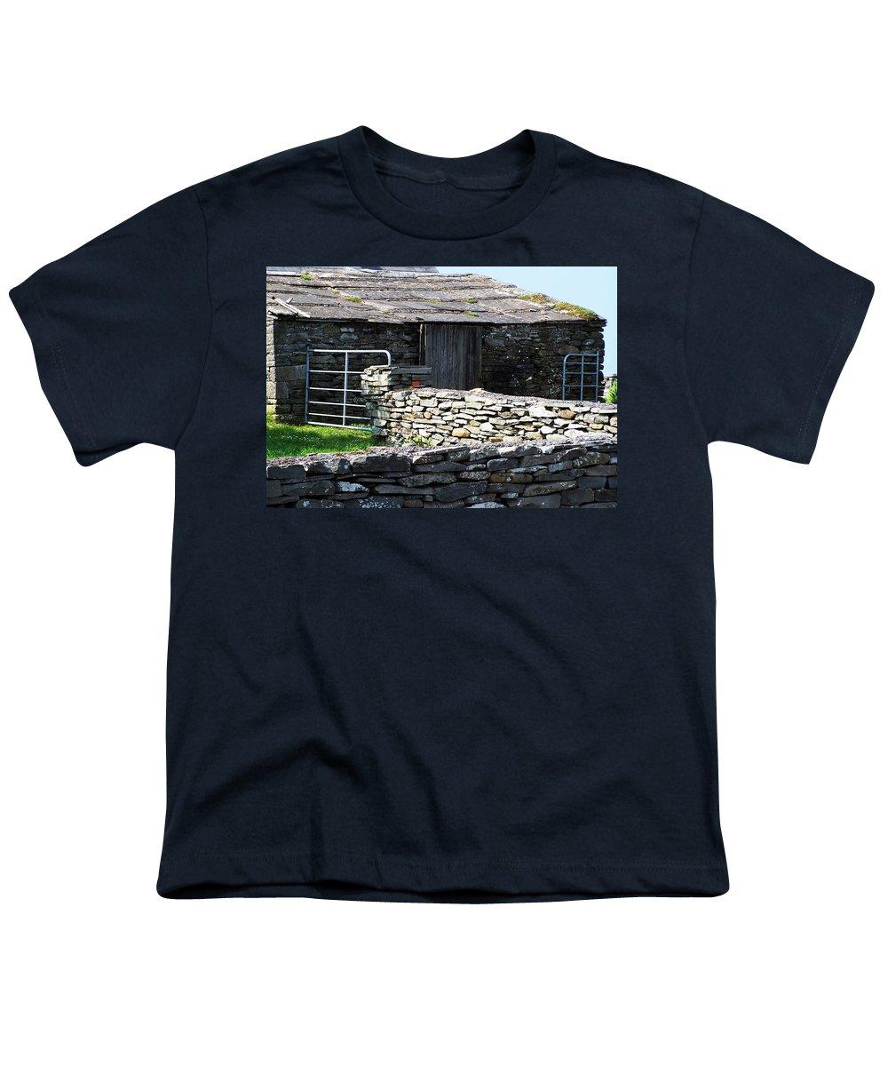 Irish Youth T-Shirt featuring the photograph Stone Barn Doolin Ireland by Teresa Mucha