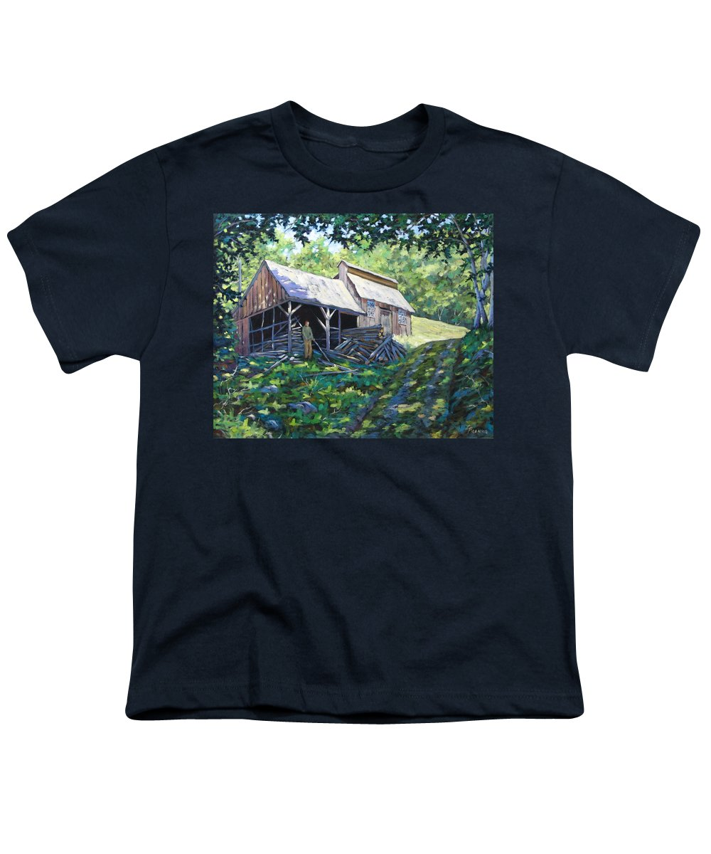 Sugar Shack Youth T-Shirt featuring the painting Sugar Shack In July by Richard T Pranke