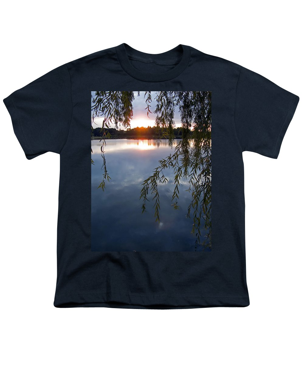 Nature Youth T-Shirt featuring the photograph Sunset by Daniel Csoka