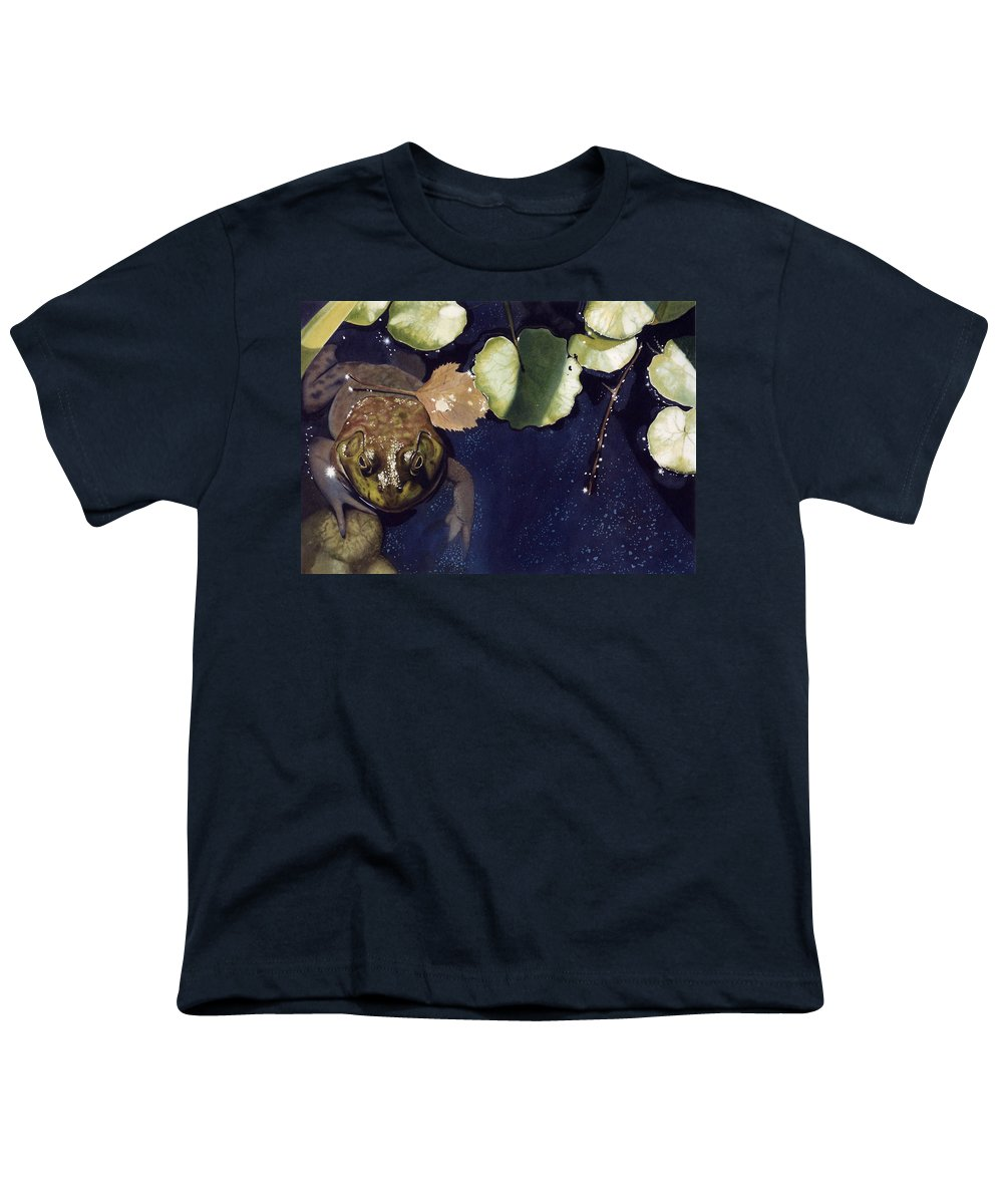Frog Youth T-Shirt featuring the painting Sunspots by Denny Bond