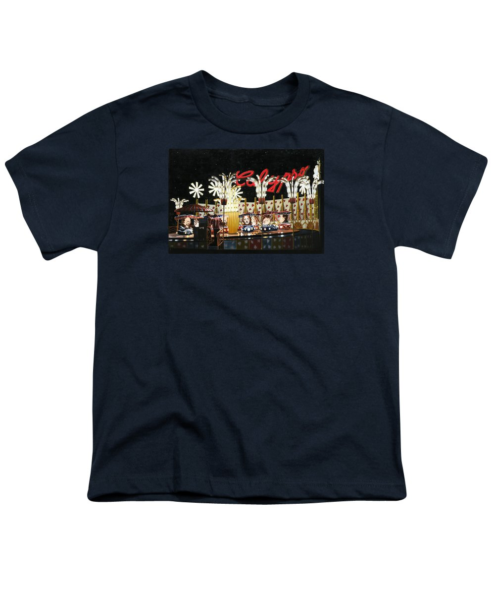 Surreal Youth T-Shirt featuring the painting Surreal Carnival by Dave Martsolf