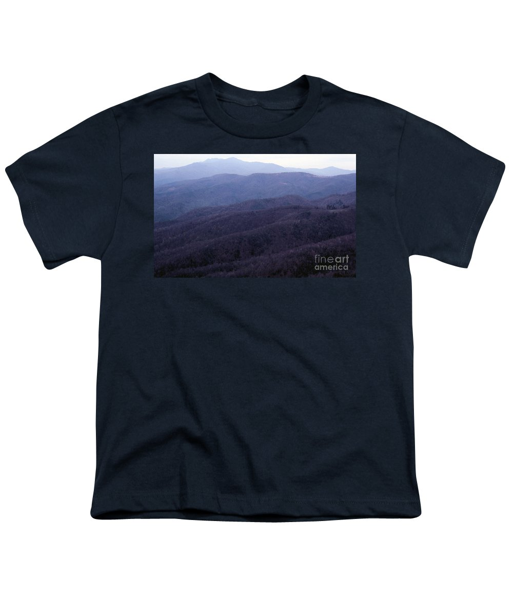 Mountains Youth T-Shirt featuring the photograph The Blue Ridge by Richard Rizzo