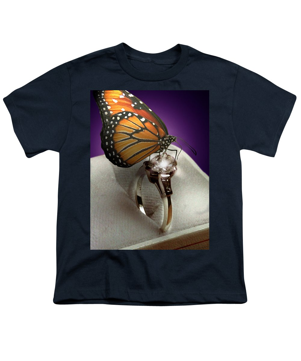 Fantasy Youth T-Shirt featuring the photograph The Butterfly And The Engagement Ring by Yuri Lev