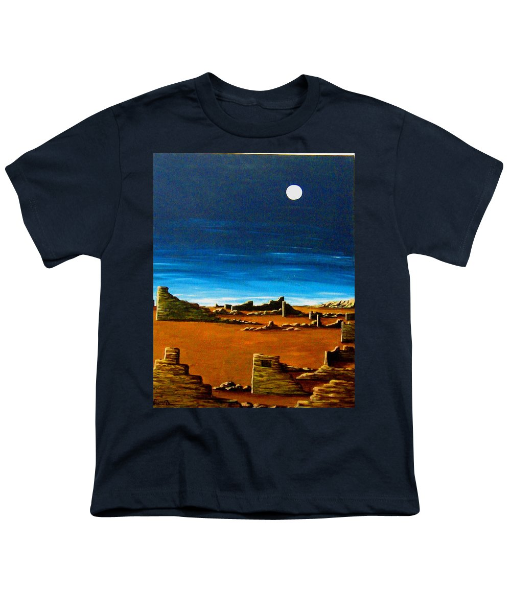 Anasazi Youth T-Shirt featuring the painting Timeless by Diana Dearen