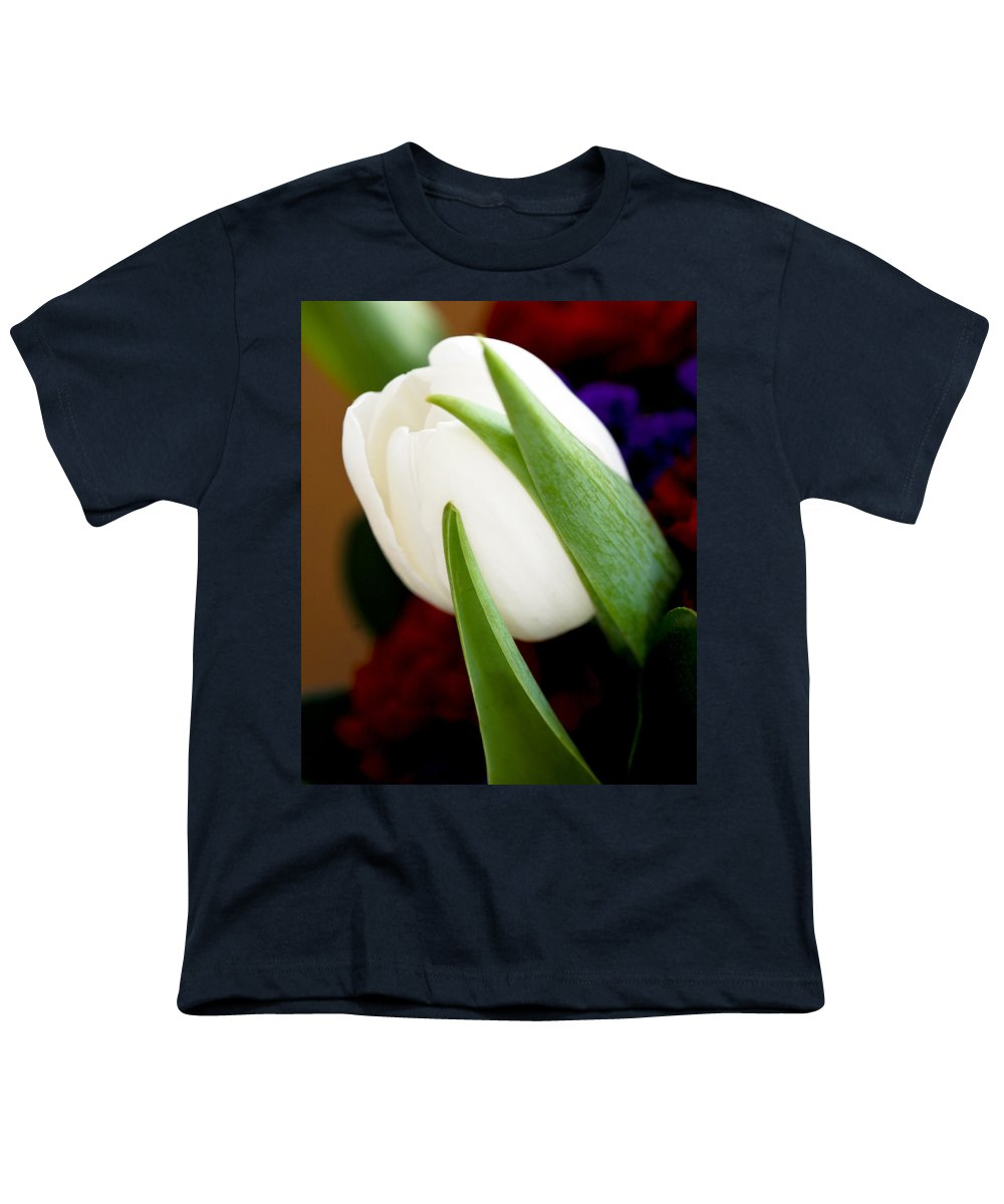 Floral Youth T-Shirt featuring the photograph Tulip Arrangement 4 by Marilyn Hunt