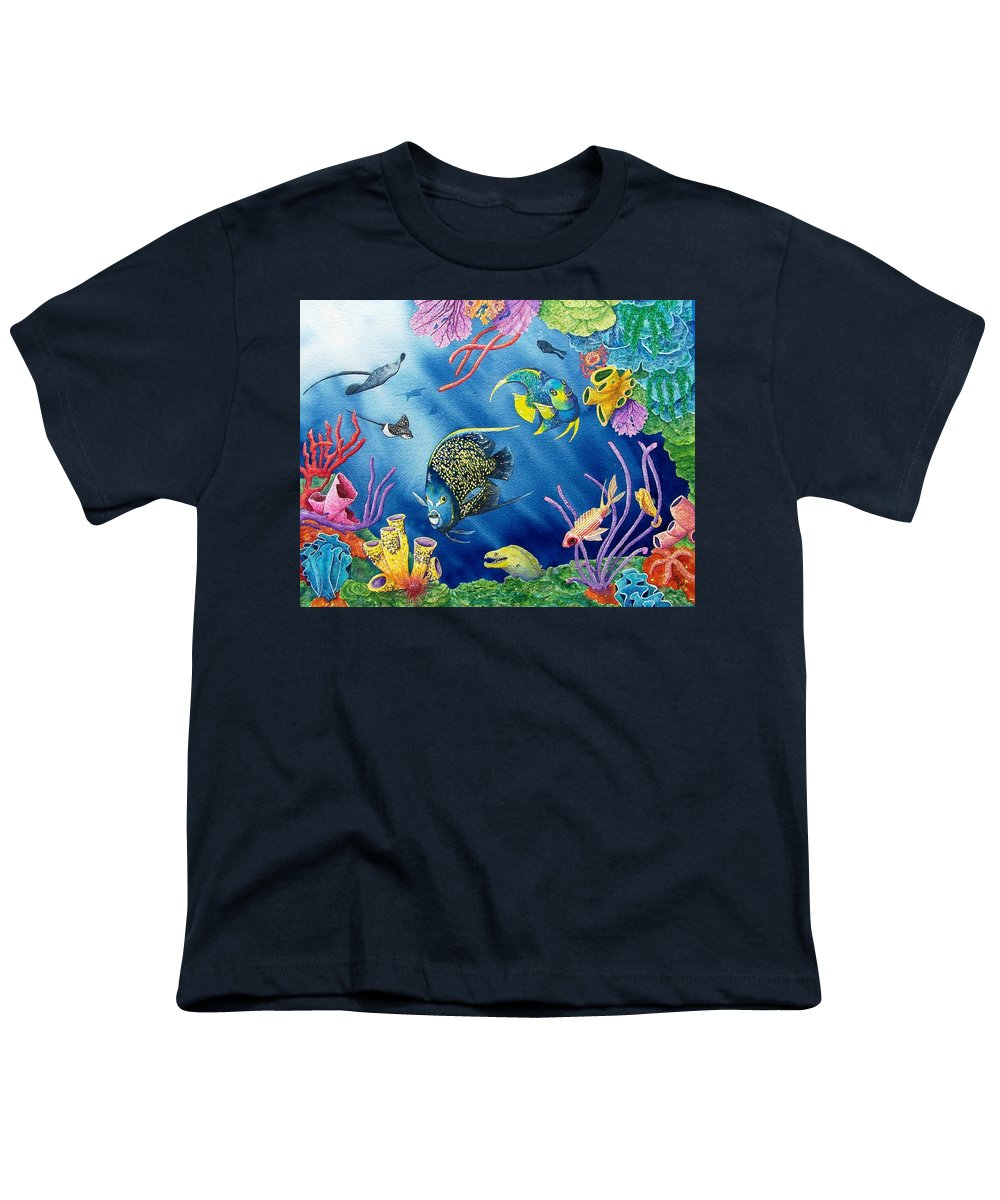 Undersea Youth T-Shirt featuring the painting Undersea Garden by Gale Cochran-Smith