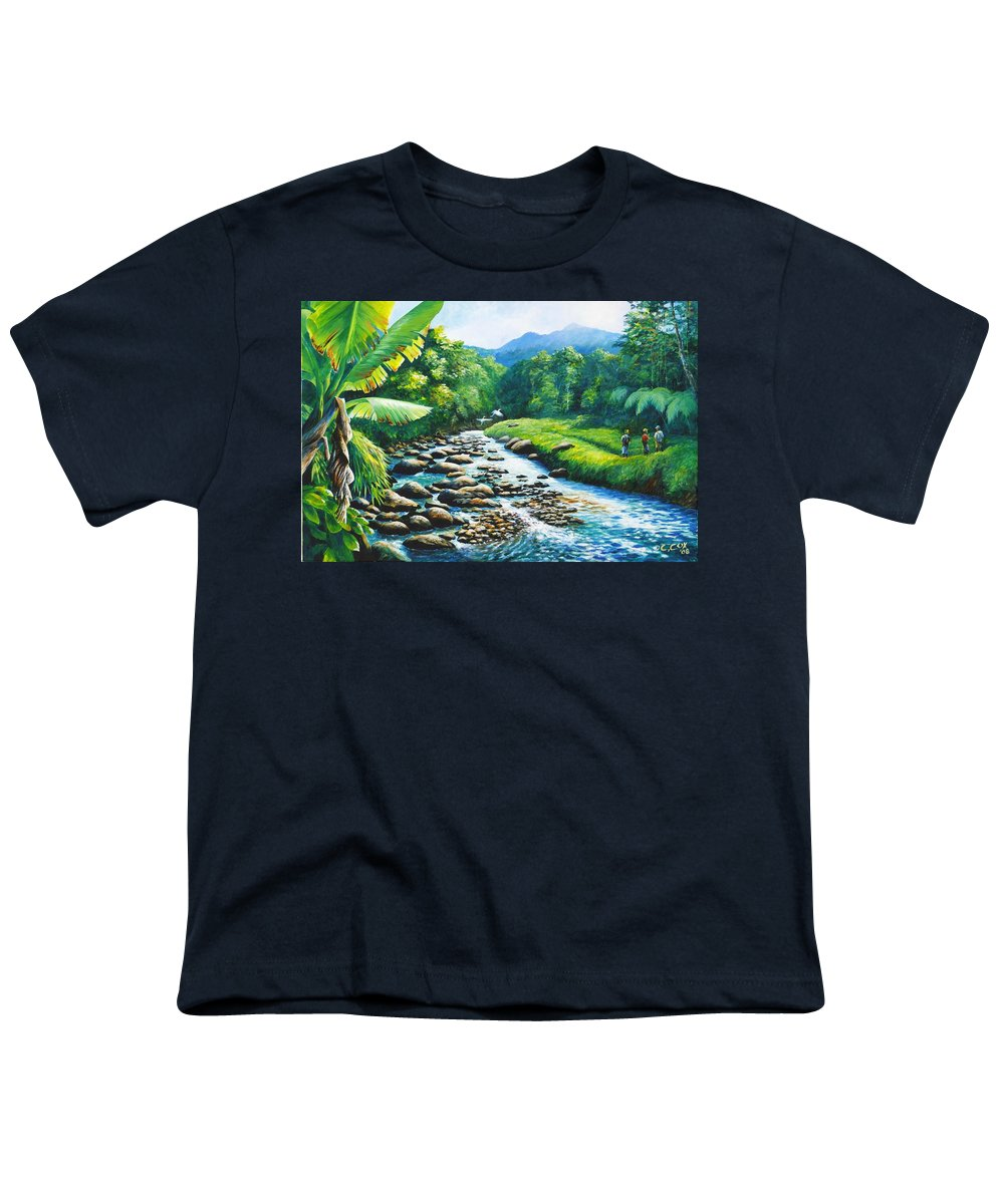Chris Cox Youth T-Shirt featuring the painting Upriver by Christopher Cox