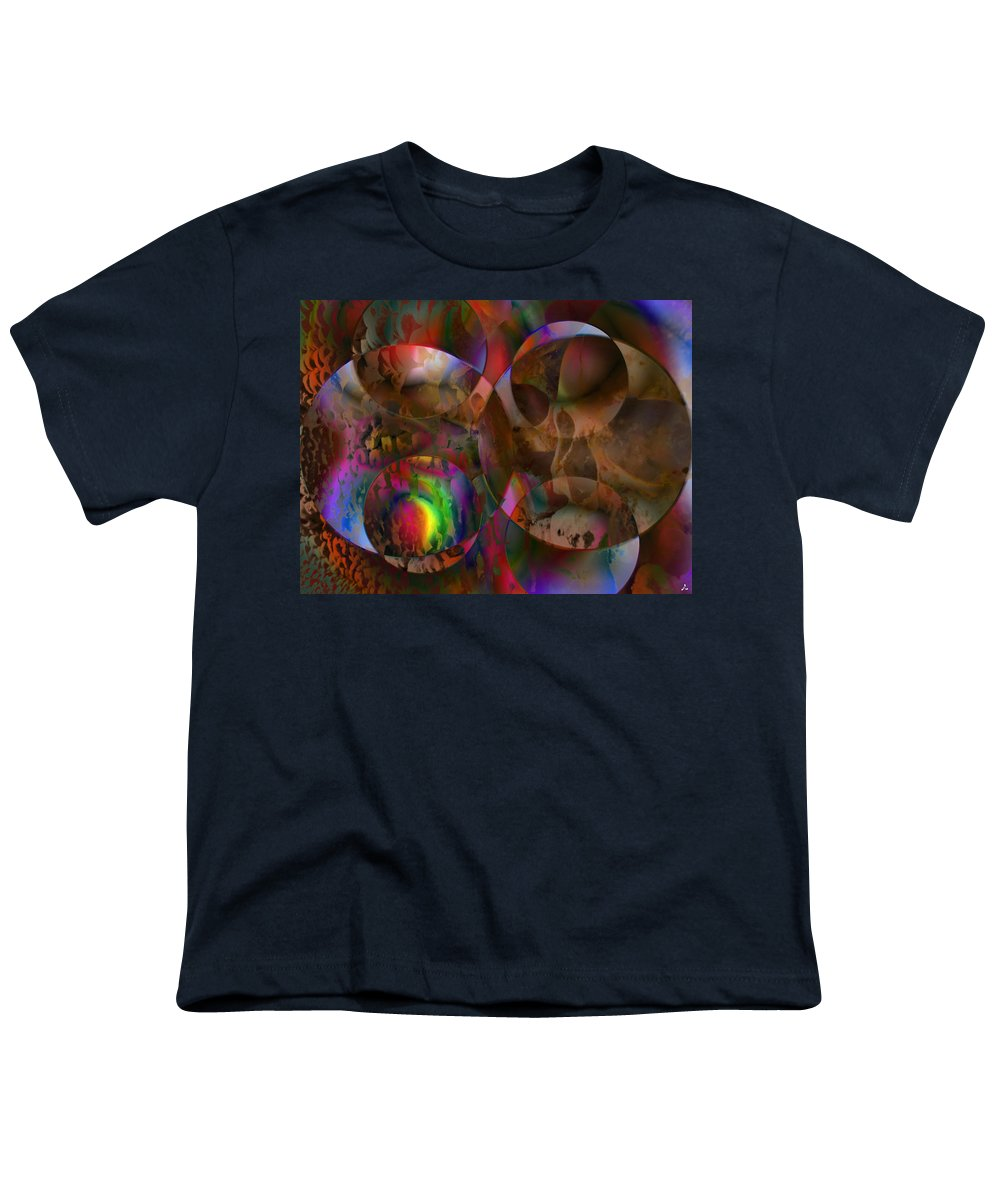 Colors Youth T-Shirt featuring the digital art Vision 24 by Jacques Raffin