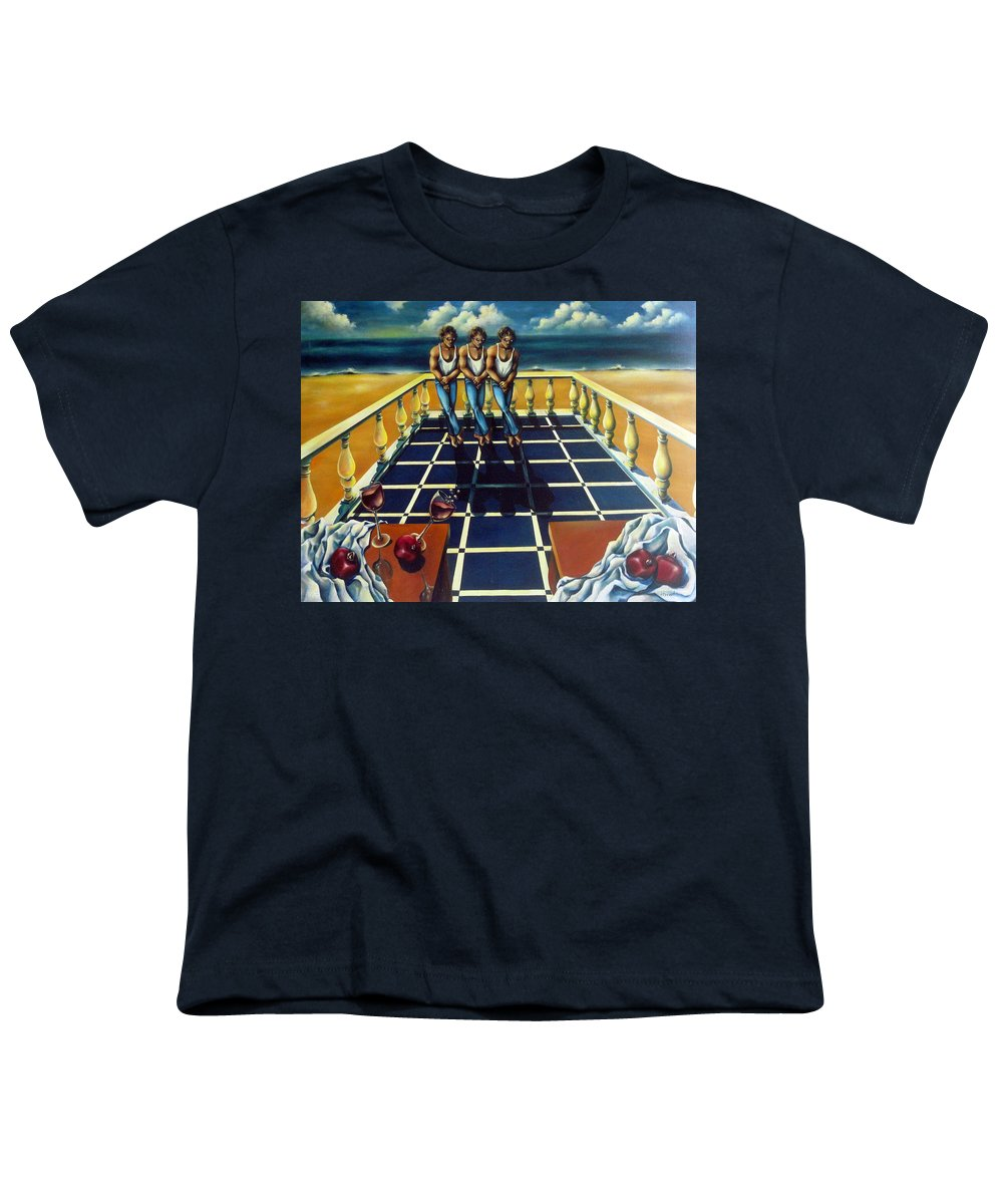 Surreal Youth T-Shirt featuring the painting Wine And Pomegranites by Valerie Vescovi