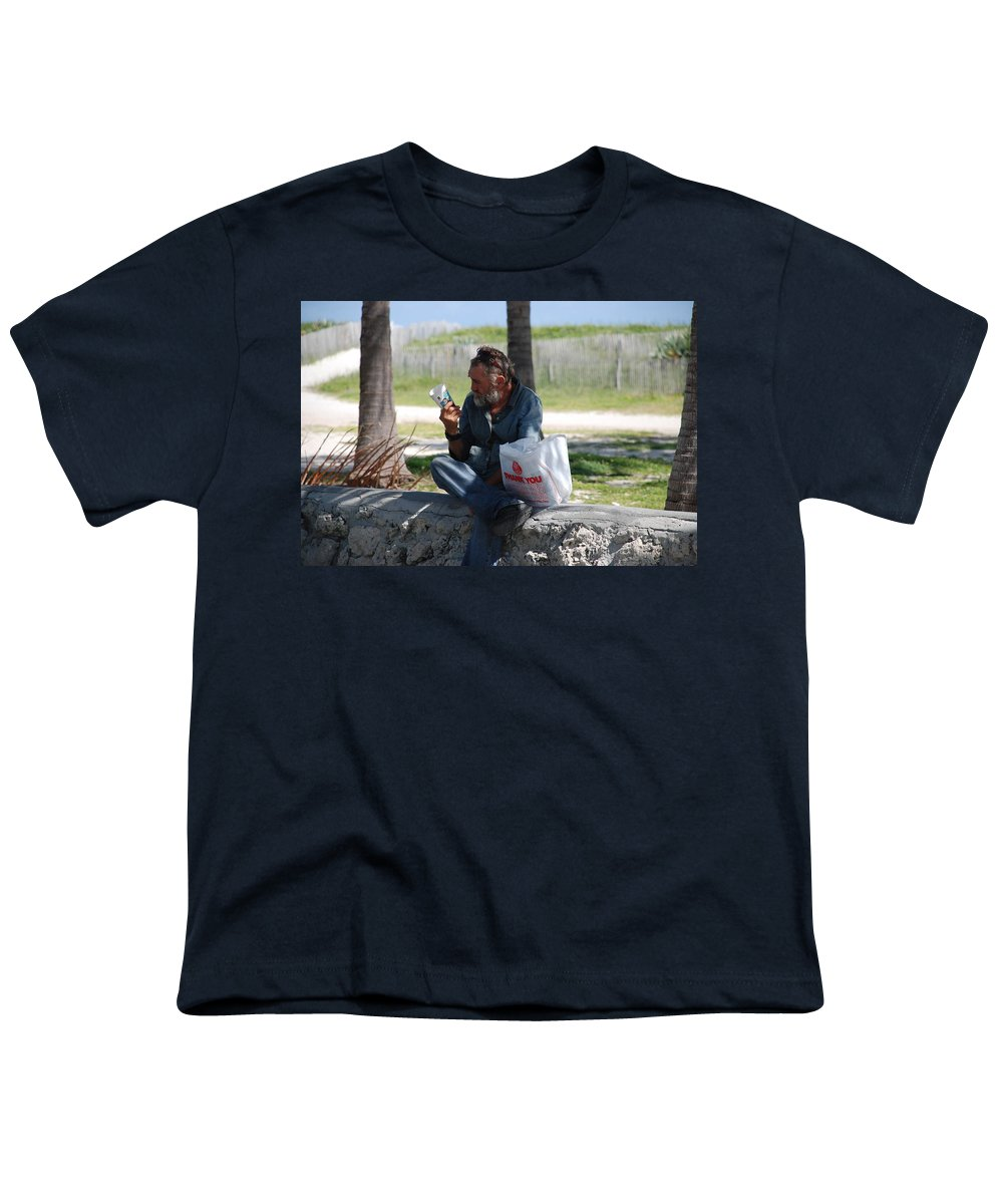 Man Youth T-Shirt featuring the photograph Worldly Posessions by Rob Hans