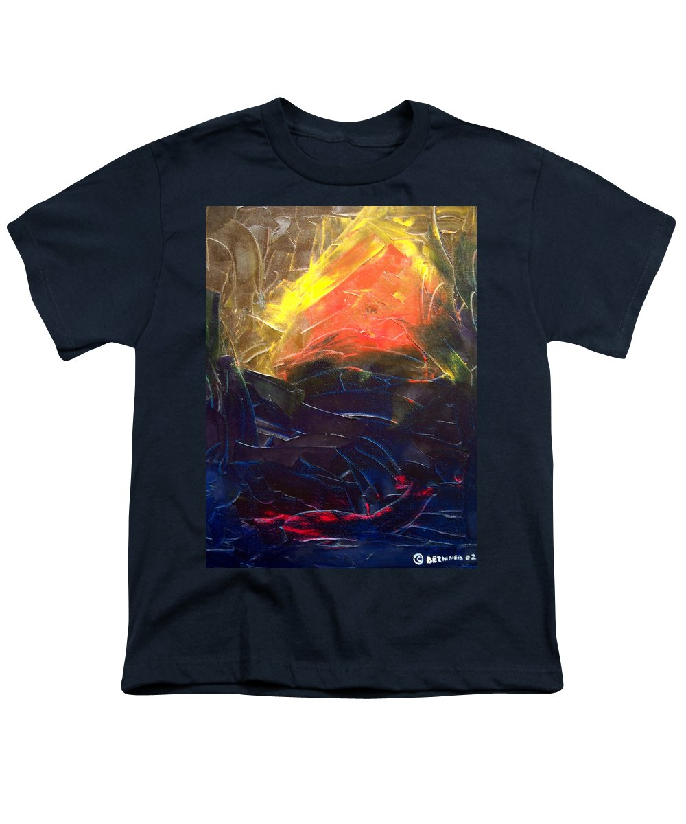 Duck Youth T-Shirt featuring the painting Forest .Part1 by Sergey Bezhinets