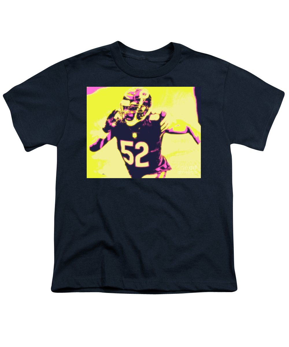 Khalil Youth T-Shirt featuring the painting Khalil Mack by Jack Bunds