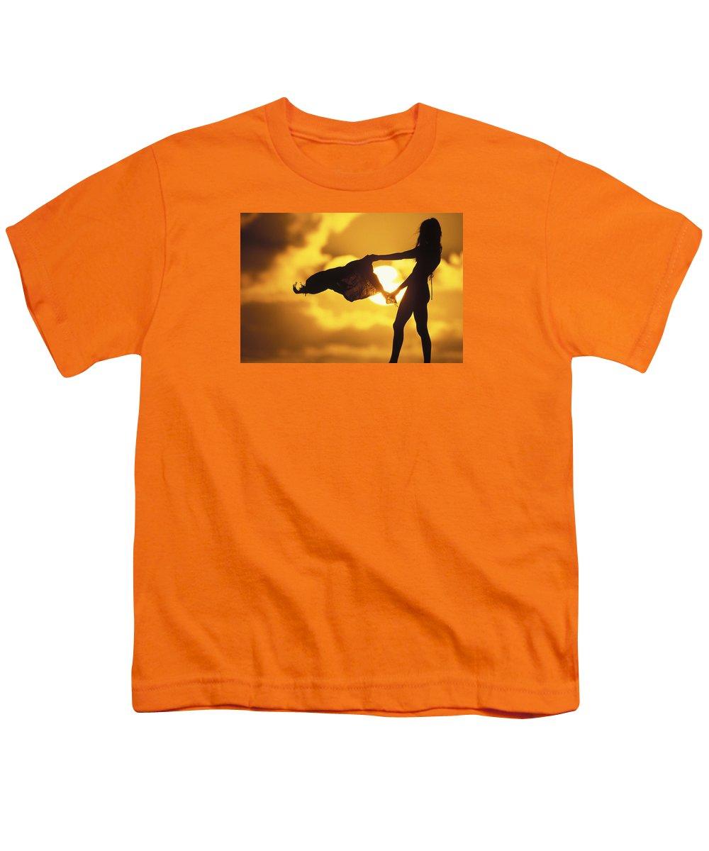 Beach Girl Youth T-Shirt featuring the photograph Beach Girl by Sean Davey