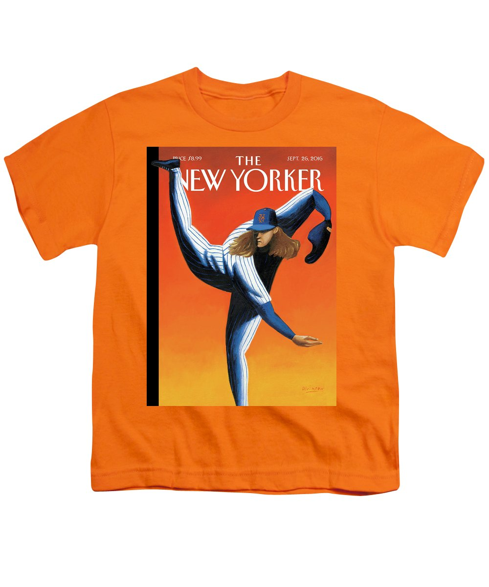Mets Youth T-Shirt featuring the painting Late Innings by Mark Ulriksen