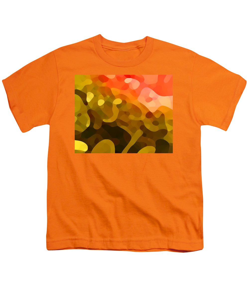 Abstract Youth T-Shirt featuring the painting Spring Day by Amy Vangsgard