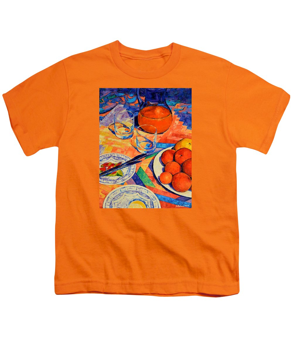 Still Life Youth T-Shirt featuring the painting Still Life 1 by Iliyan Bozhanov