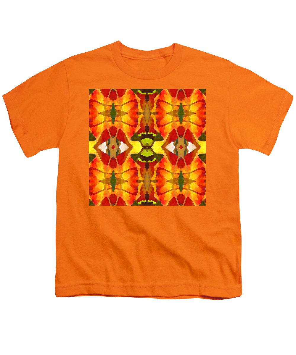 Abstract Youth T-Shirt featuring the painting Tropical Leaf Pattern 4 by Amy Vangsgard