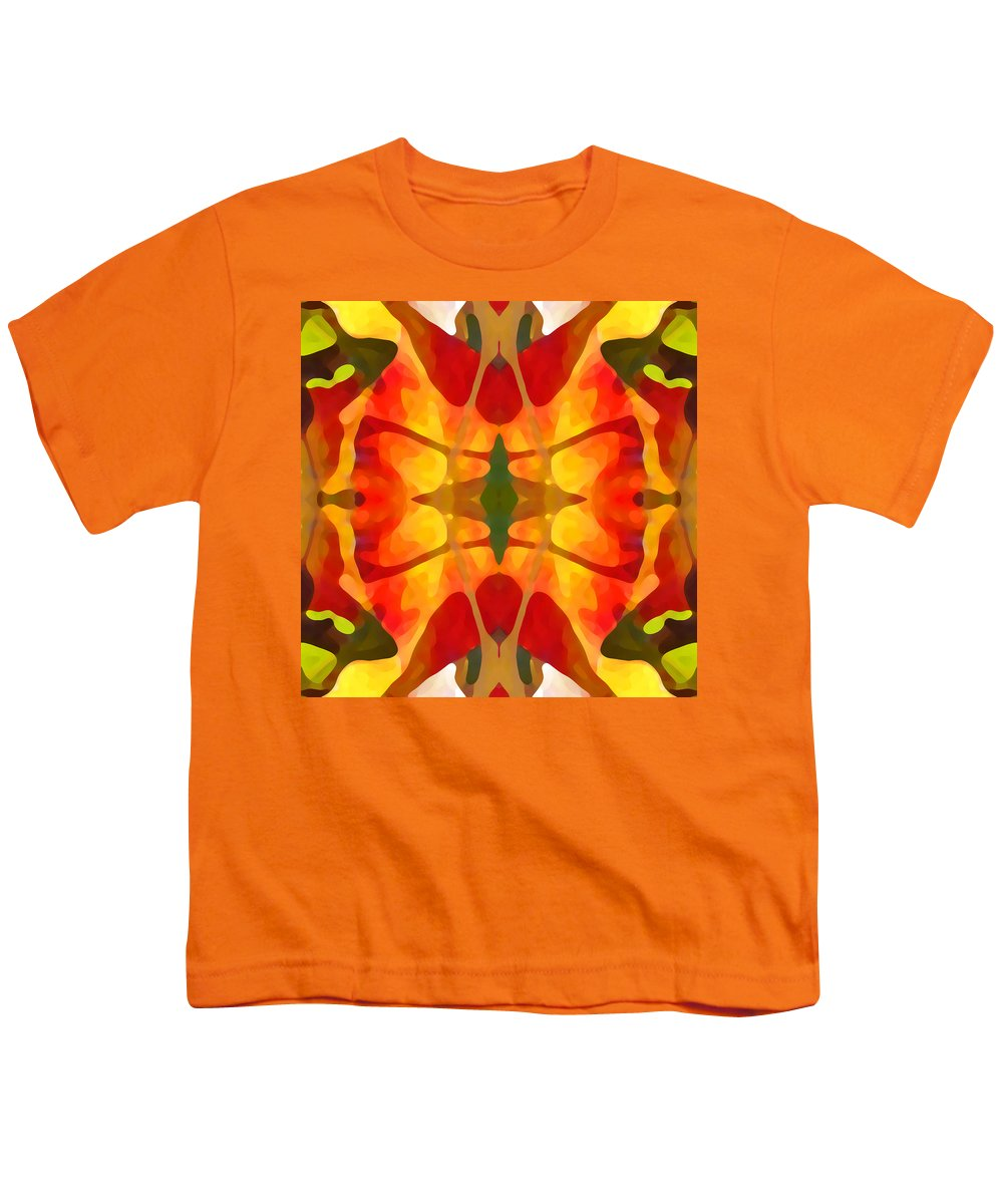 Abstract Youth T-Shirt featuring the painting Tropical Leaf Pattern5 by Amy Vangsgard