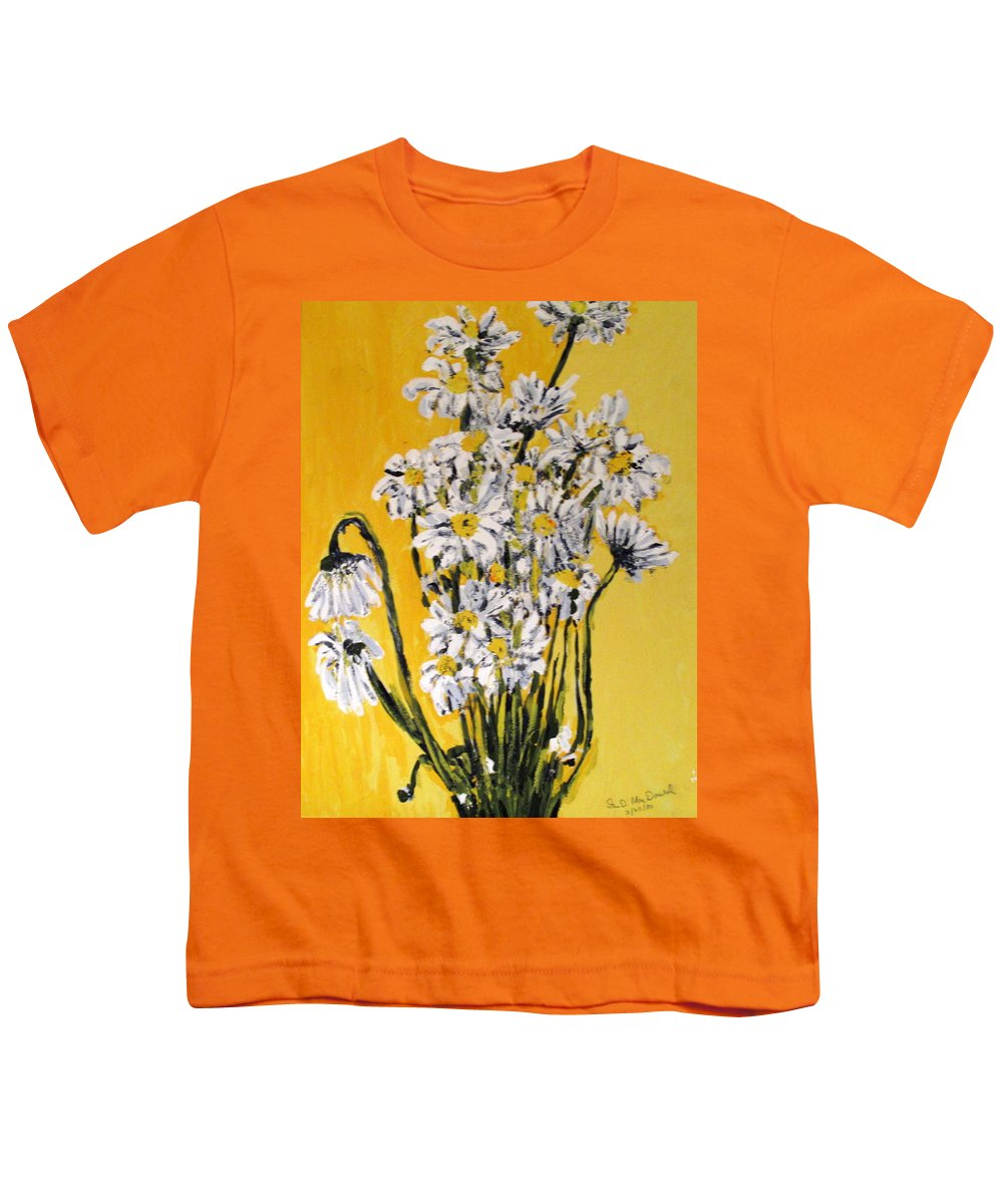 Daisy Youth T-Shirt featuring the painting Yellow by Ian MacDonald
