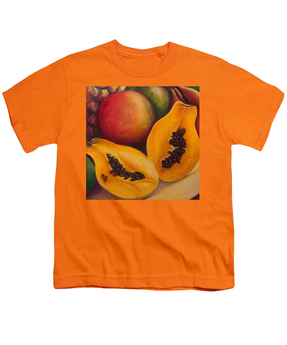 Twins Youth T-Shirt featuring the painting Twins Crop by Shannon Grissom