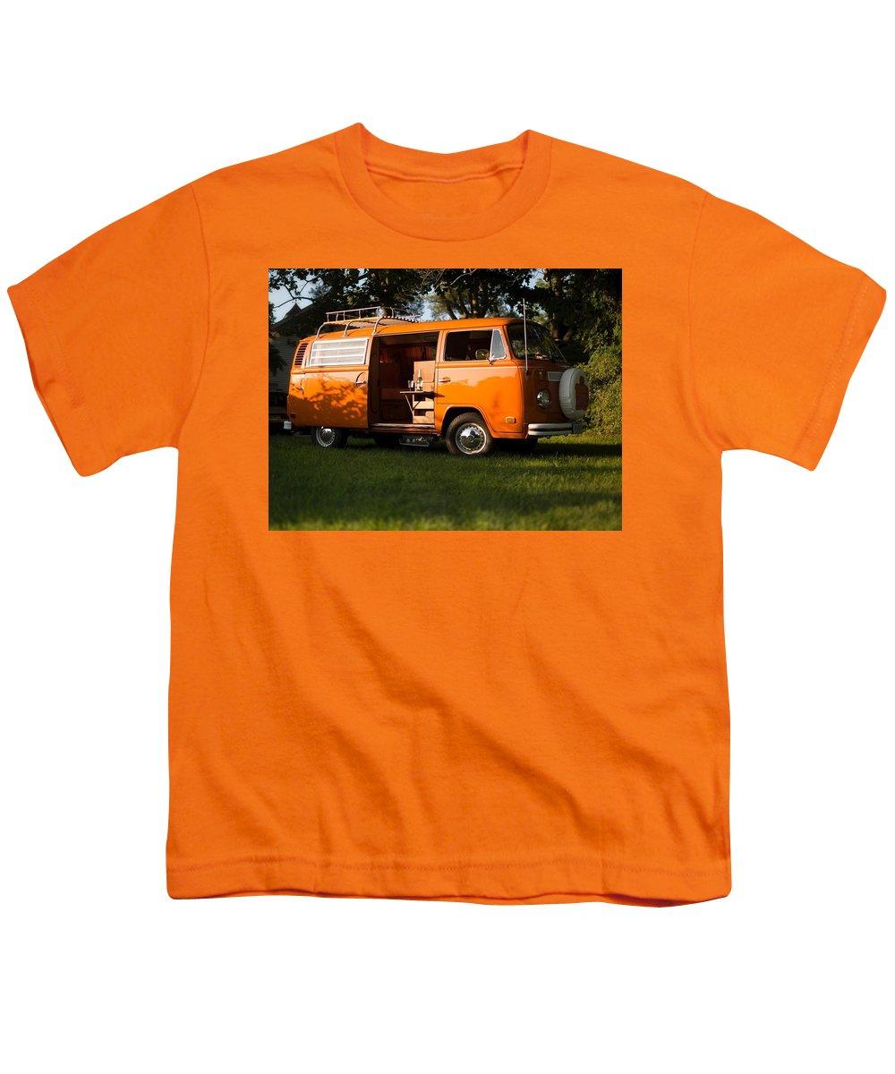 Volkswagen Bus T2 Westfalia Youth T-Shirt featuring the photograph Volkswagen Bus T2 Westfalia 2 by Mariel Mcmeeking