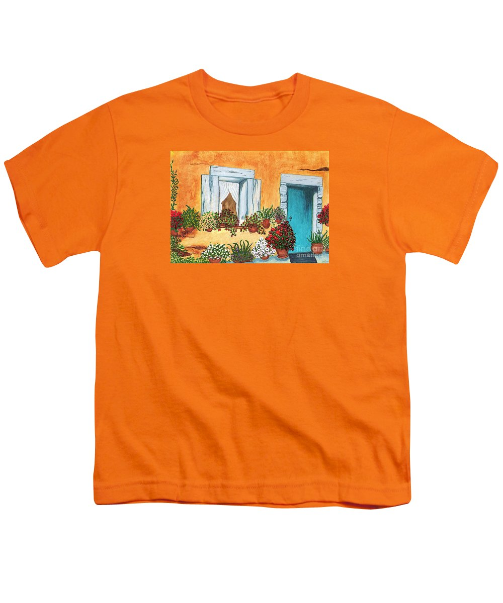 Watercolor Painting Youth T-Shirt featuring the painting A Cottage In The Village by Patricia Griffin Brett