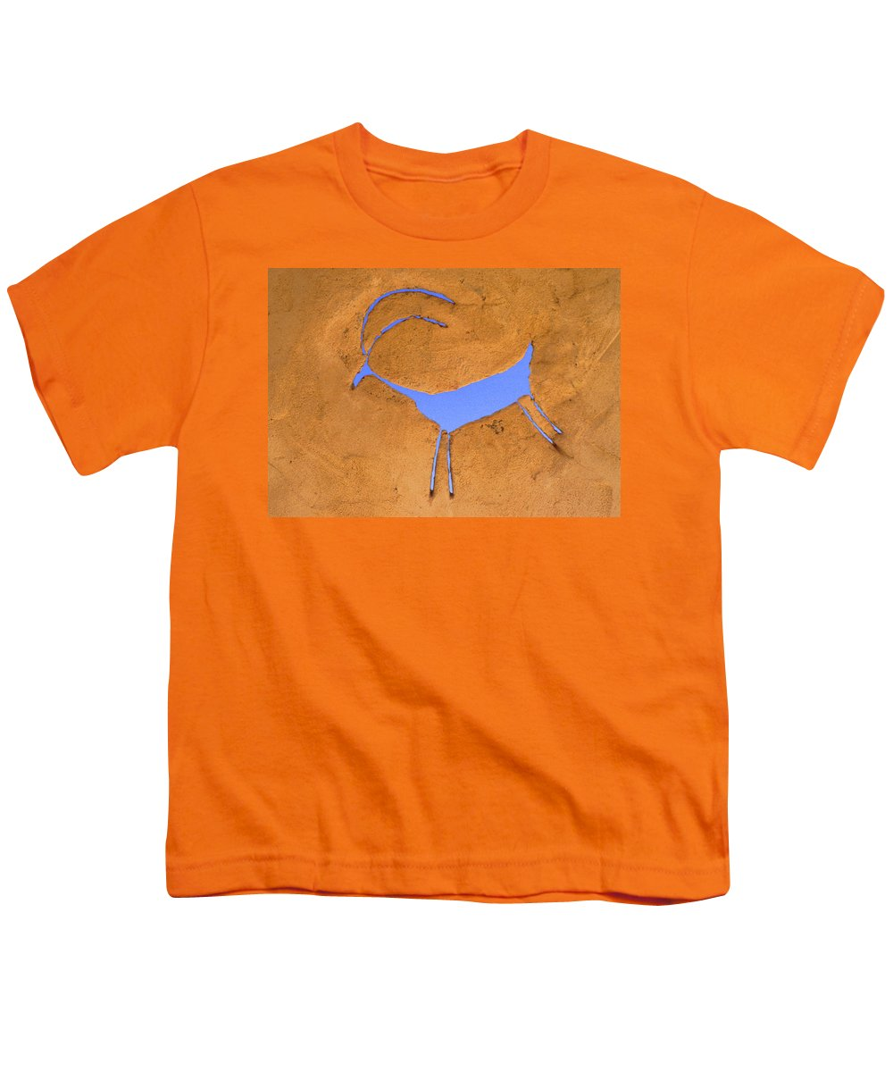 Anasazi Youth T-Shirt featuring the photograph Antelope Petroglyph by Jerry McElroy