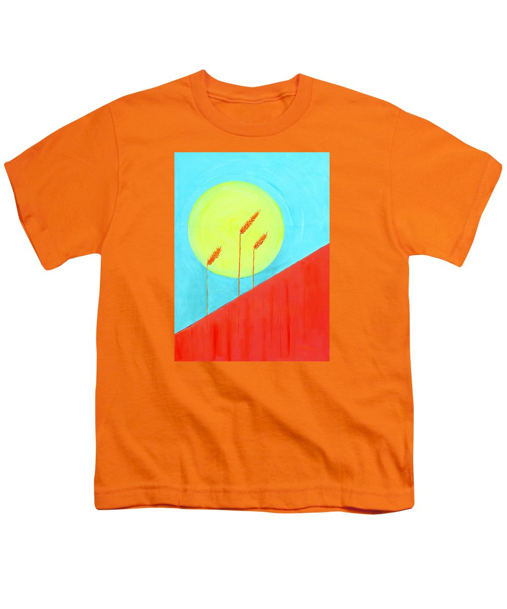 Landscape Youth T-Shirt featuring the painting Autumn Harvest by J R Seymour