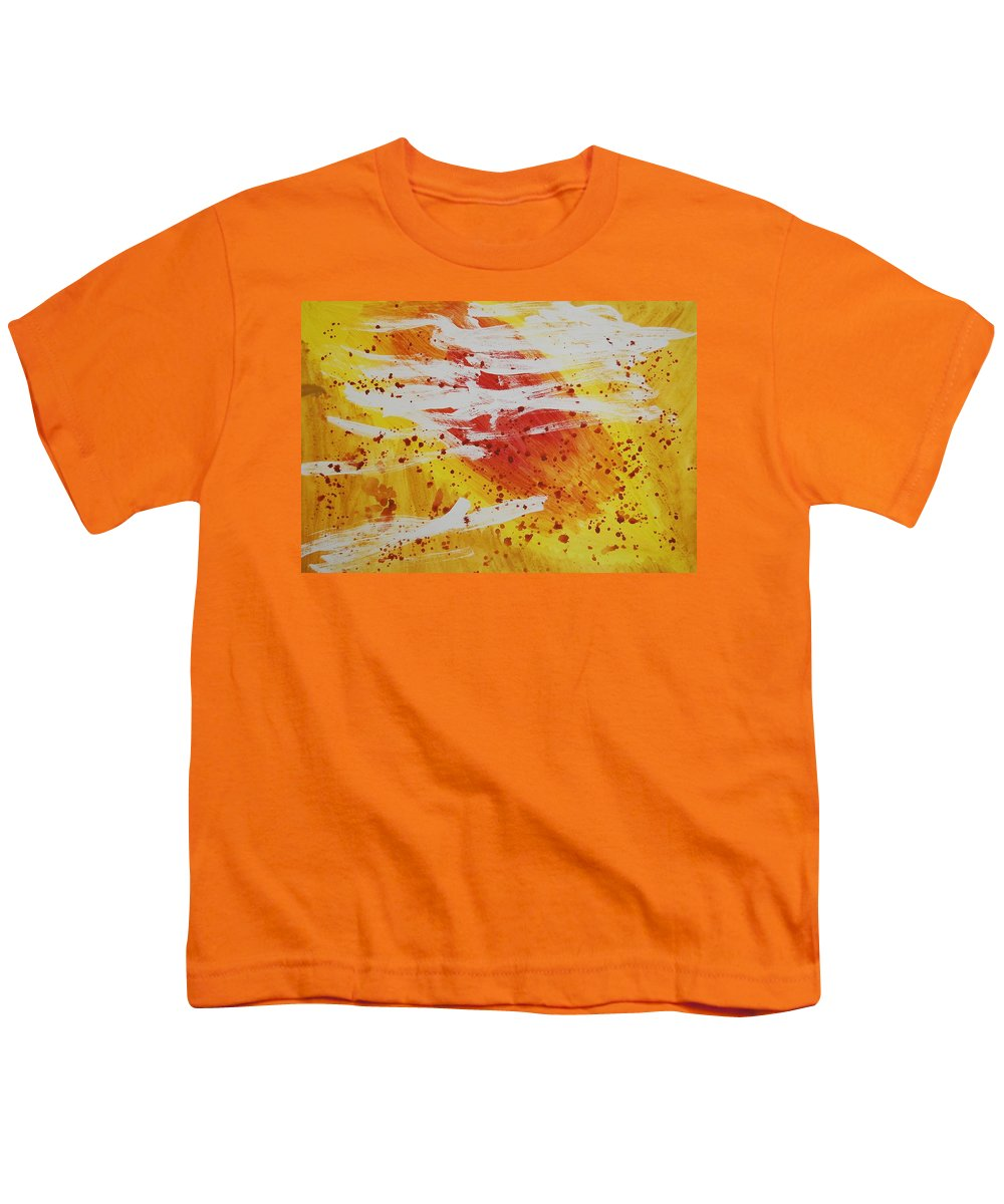 Abstract Youth T-Shirt featuring the painting Bailando En El Sol by Lauren Luna