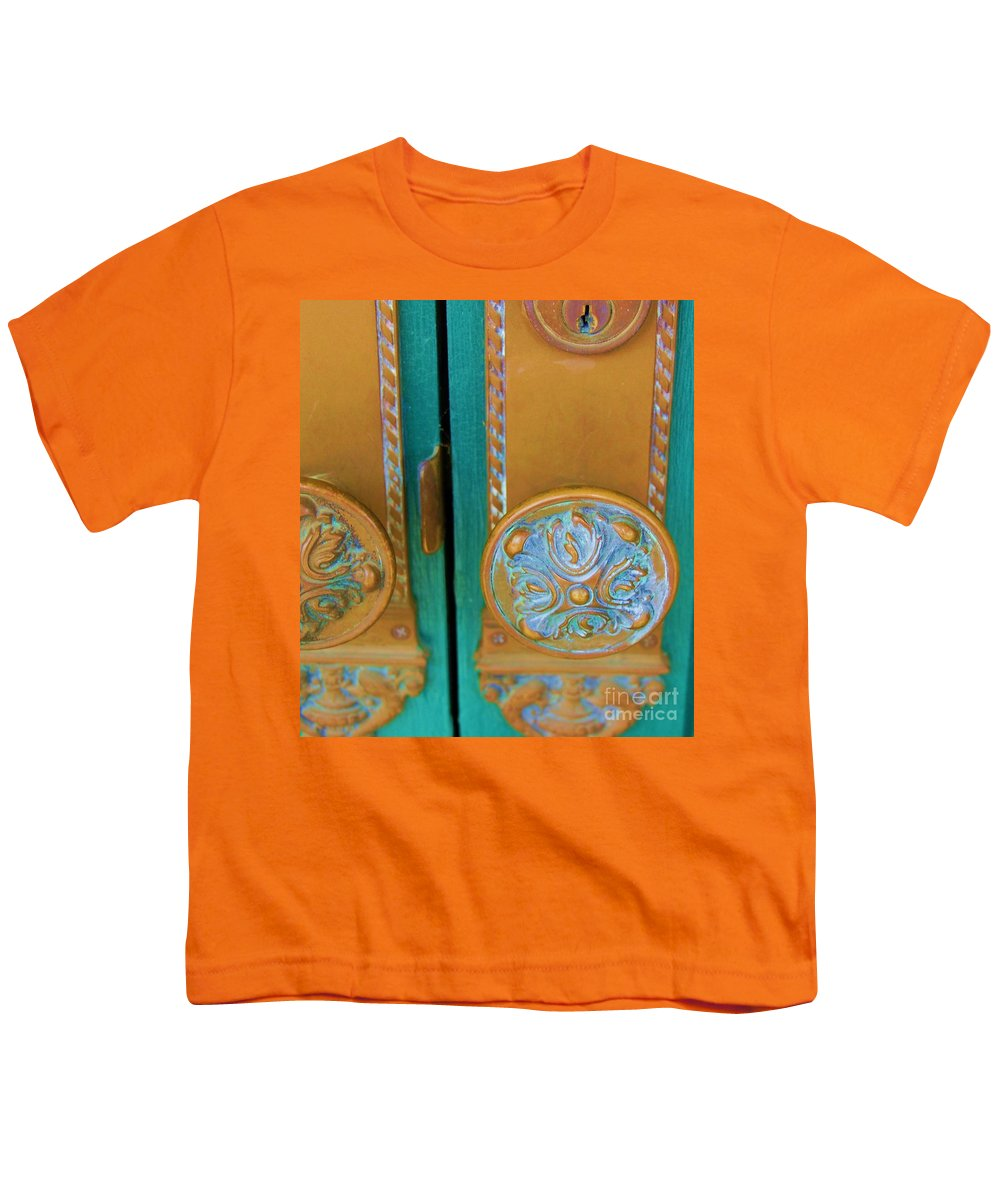 Door Youth T-Shirt featuring the photograph Brass Is Green by Debbi Granruth