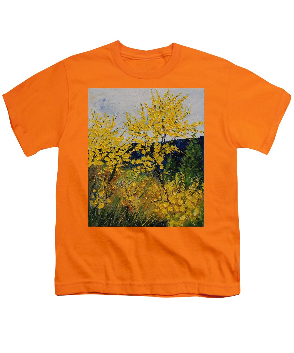 Flowers Youth T-Shirt featuring the painting Brooms by Pol Ledent