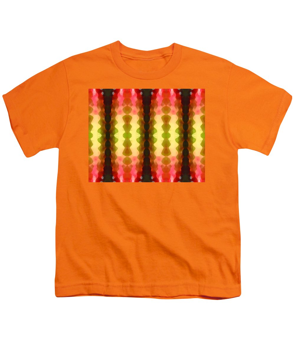 Abstract Painting Youth T-Shirt featuring the digital art Cactus Vibrations 1 by Amy Vangsgard