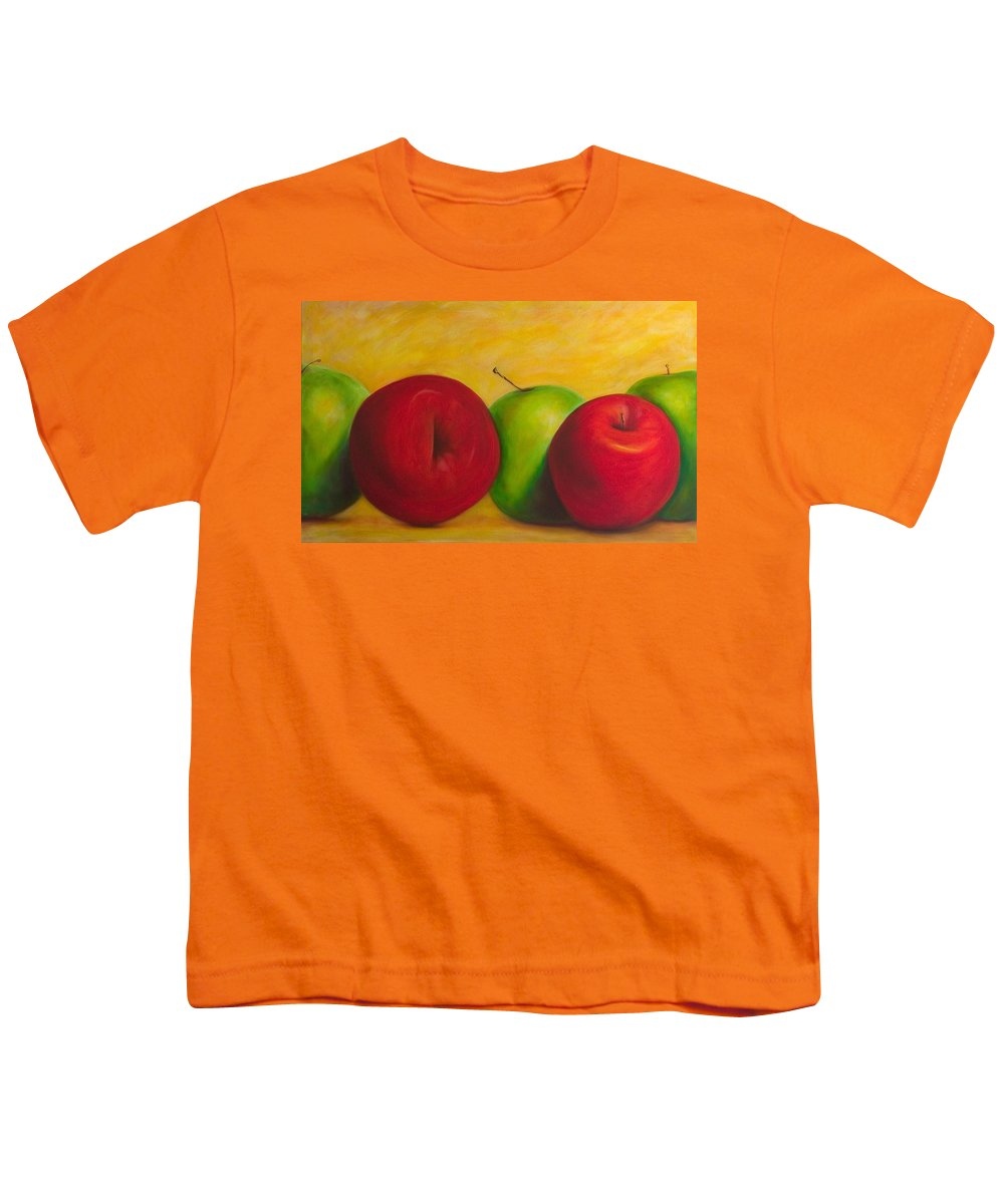 Still Life Youth T-Shirt featuring the painting Cancan by Shannon Grissom