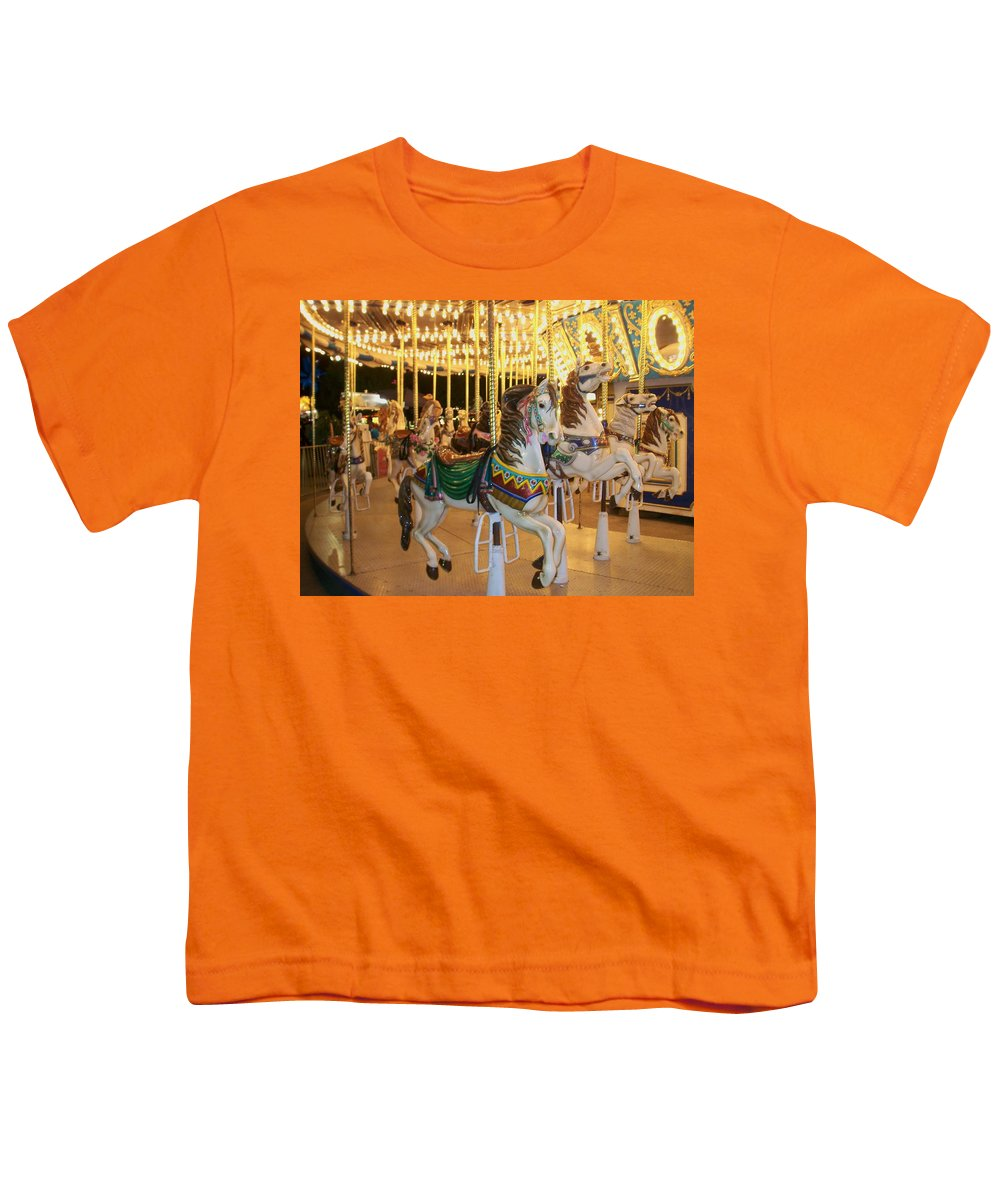 Carousel Horse Youth T-Shirt featuring the photograph Carousel Horse 4 by Anita Burgermeister