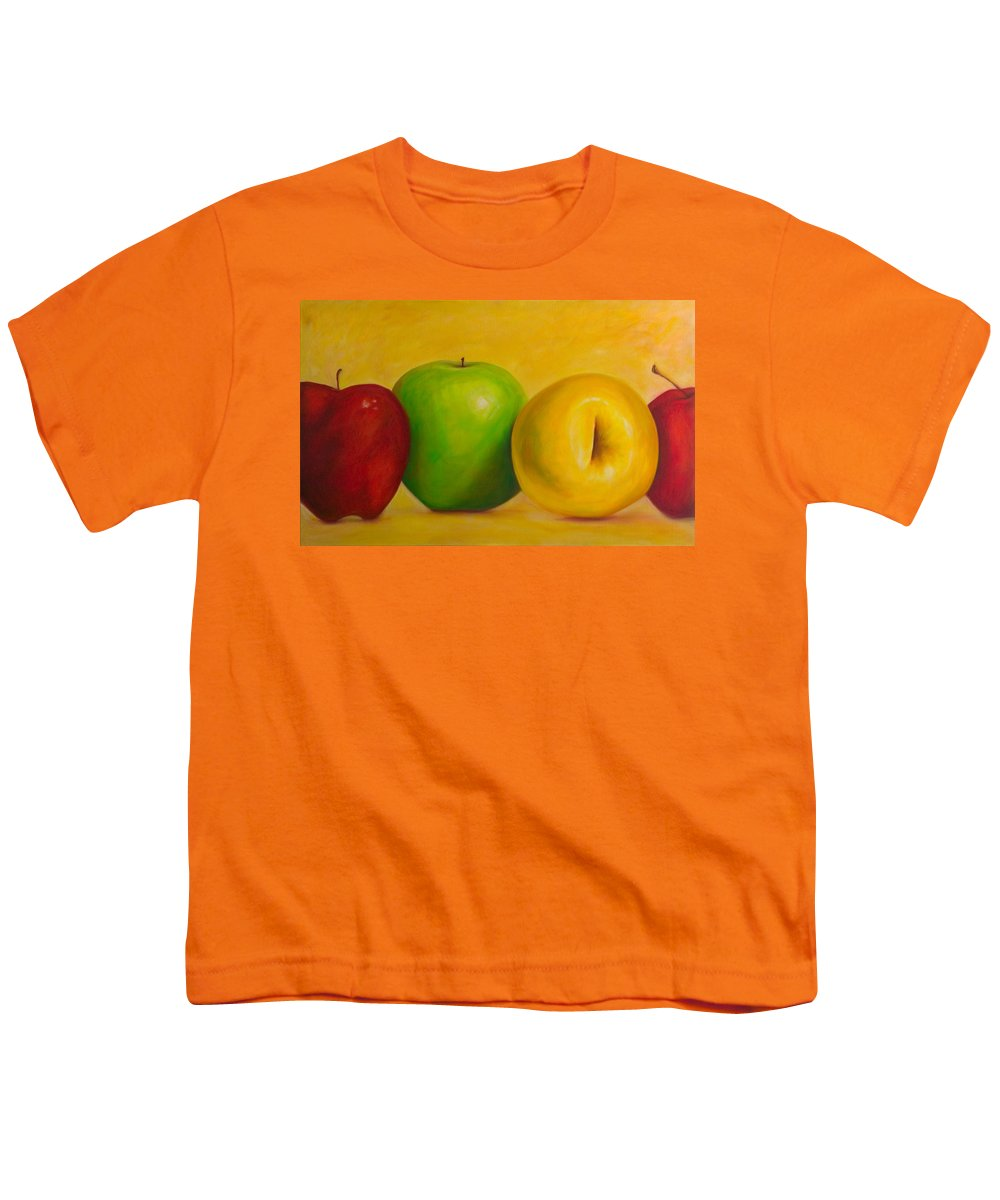 Still Life Youth T-Shirt featuring the painting Chorus Line by Shannon Grissom