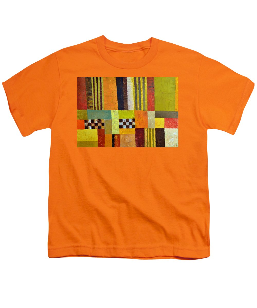 Colorful Youth T-Shirt featuring the painting Color And Pattern Abstract by Michelle Calkins