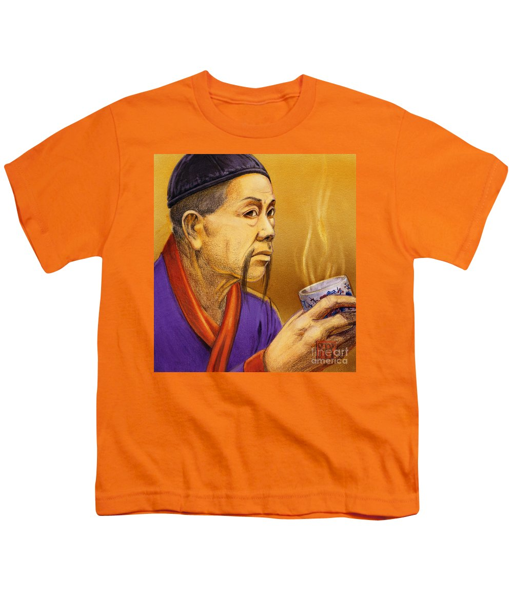 Oriental Youth T-Shirt featuring the painting Confucian Sage by Melissa A Benson