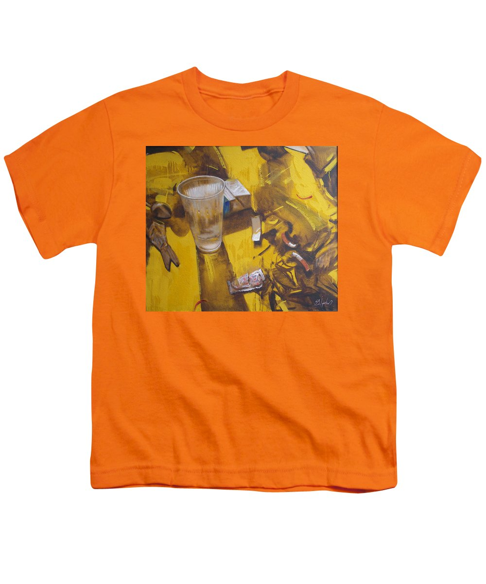Disposable Youth T-Shirt featuring the painting Disposable by Sergey Ignatenko