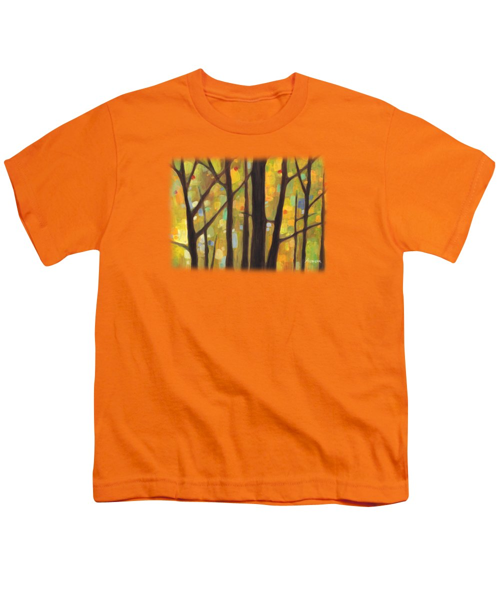 Dreaming Youth T-Shirt featuring the painting Dreaming Trees 1 by Hailey E Herrera