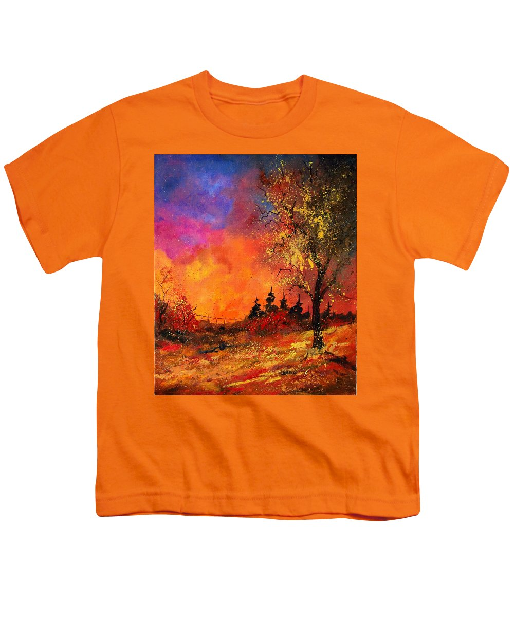 River Youth T-Shirt featuring the painting Fall by Pol Ledent