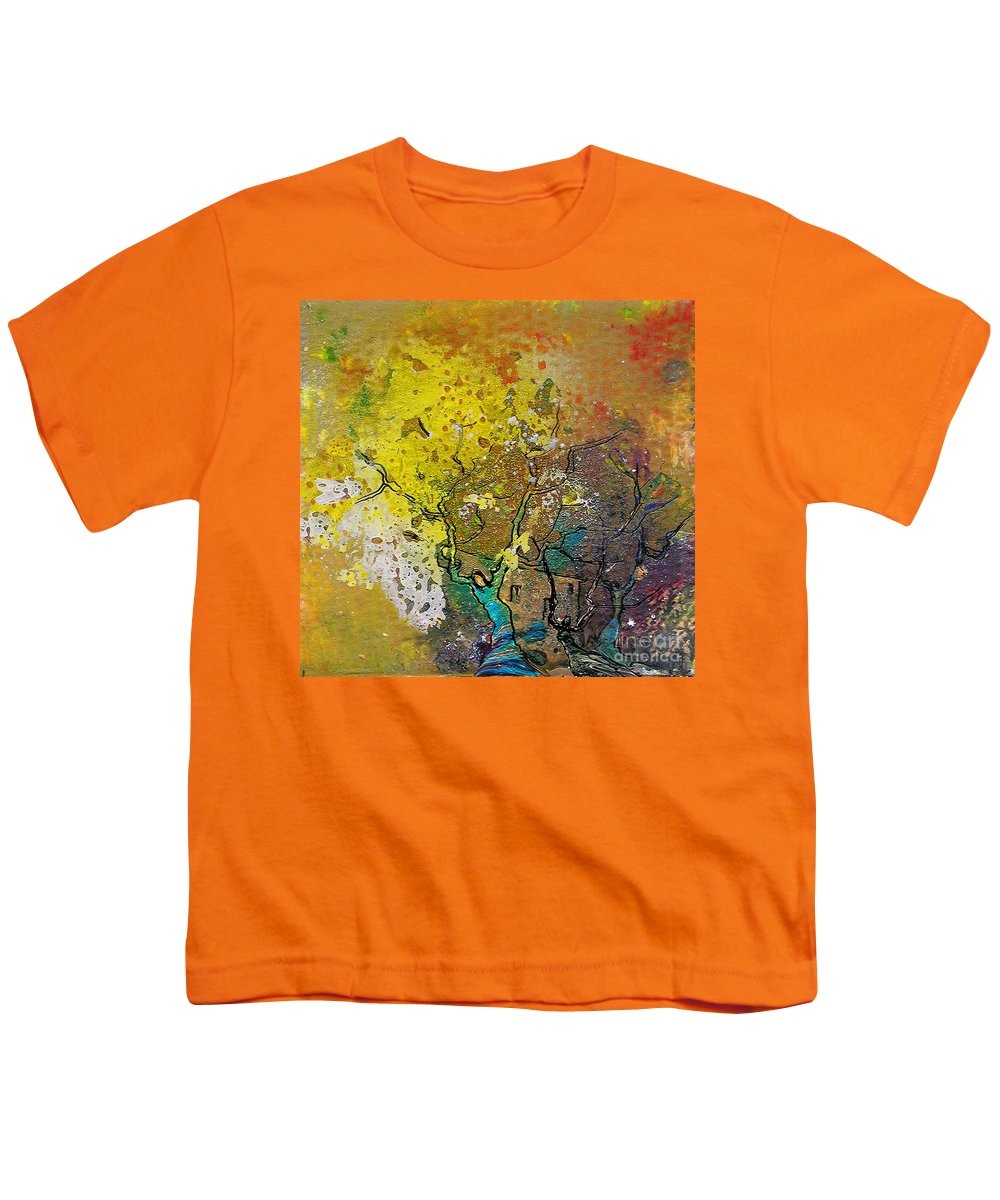 Miki Youth T-Shirt featuring the painting Fantaspray 13 1 by Miki De Goodaboom