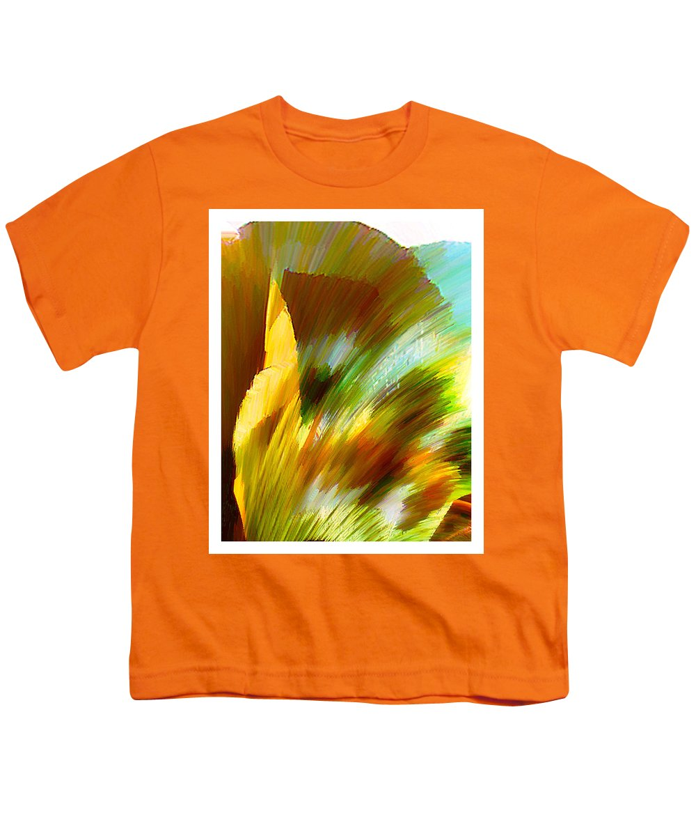 Landscape Digital Art Watercolor Water Color Mixed Media Youth T-Shirt featuring the digital art Feather by Anil Nene