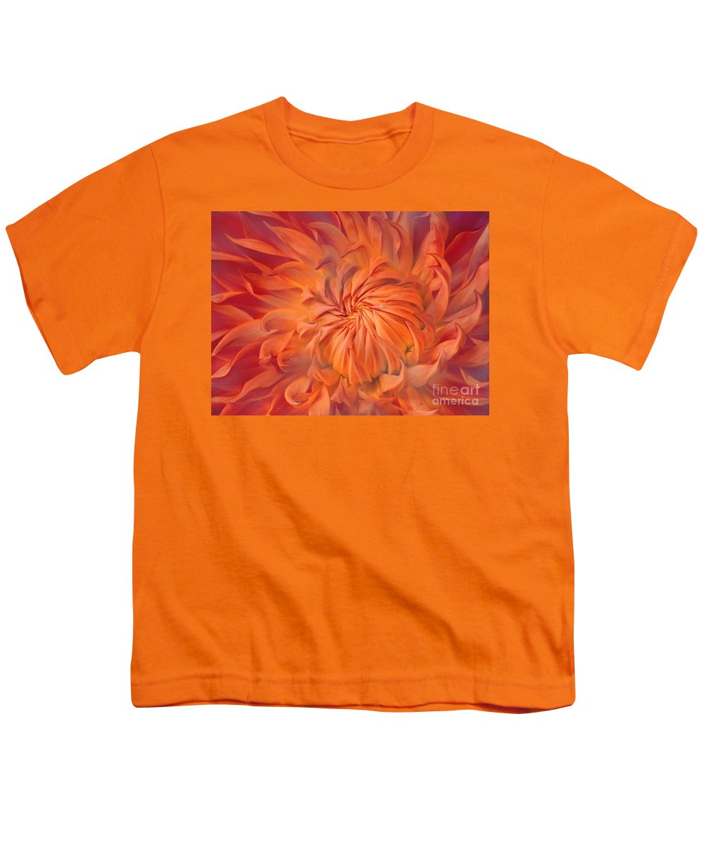 Flower Youth T-Shirt featuring the photograph Flame by Jacky Gerritsen
