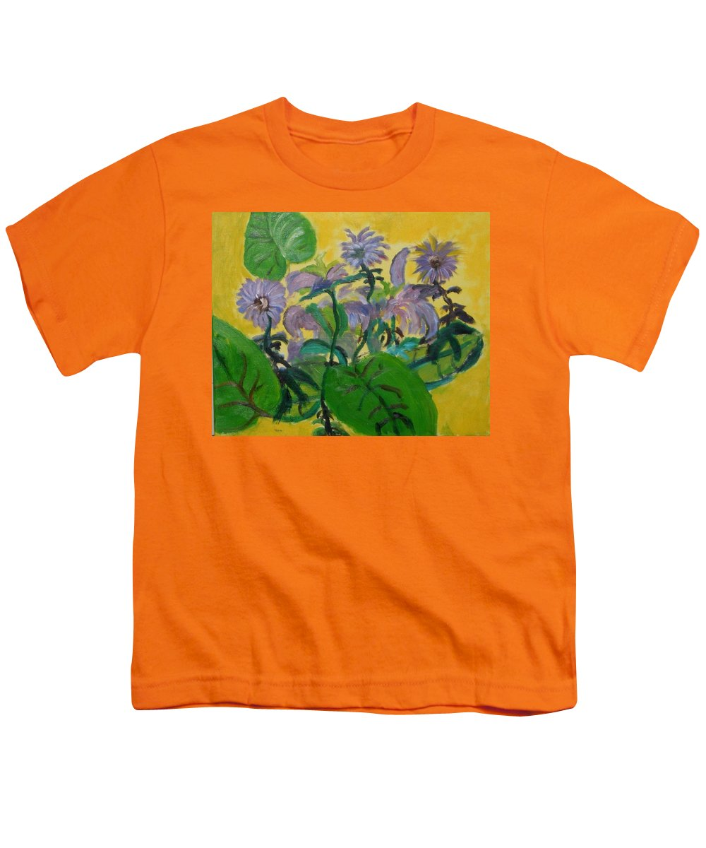 Youth T-Shirt featuring the painting Flower garden by Jason Rosenstock