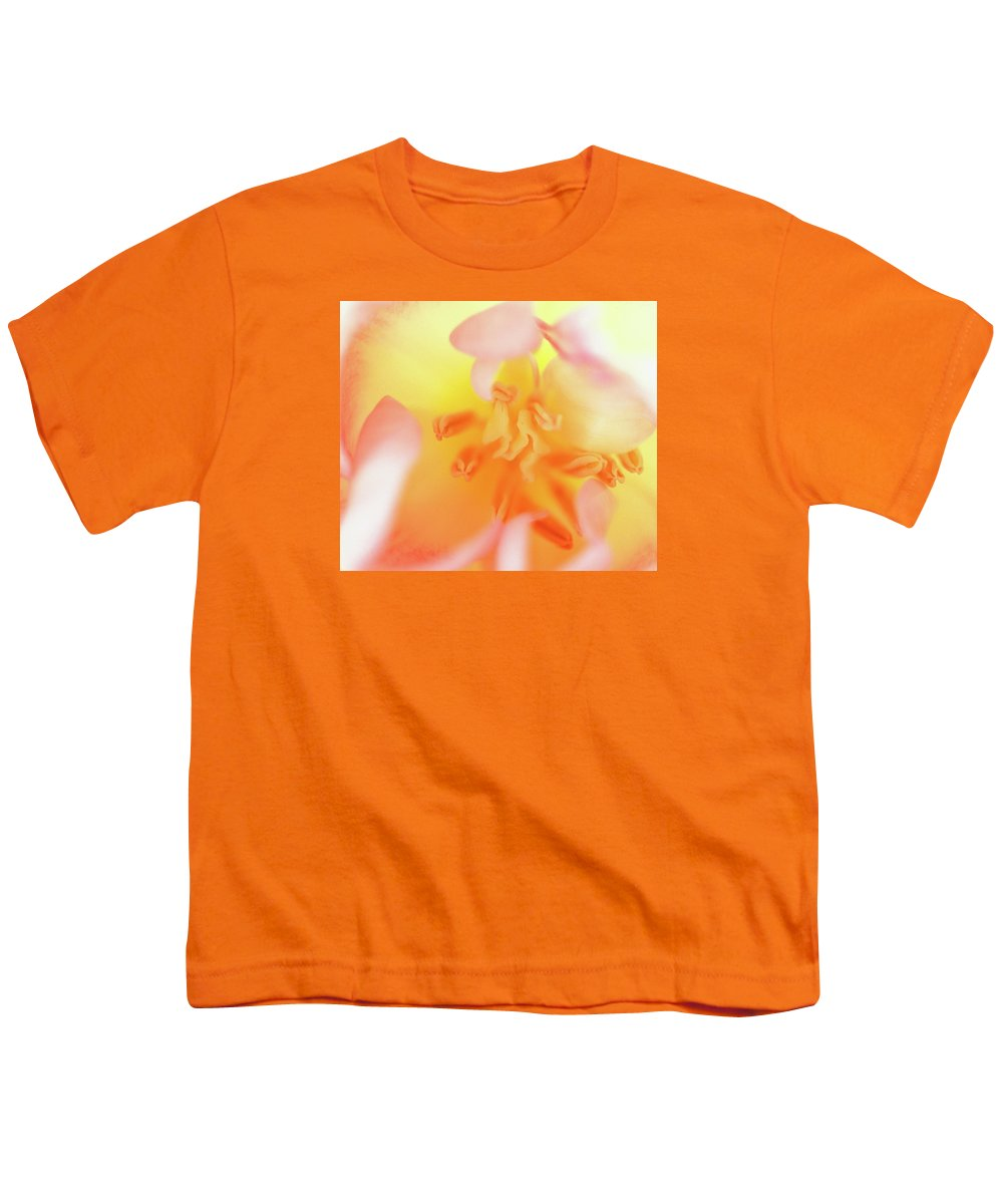 Internal Beauty Of A Tulip Youth T-Shirt featuring the photograph From The Heart by Bill Morgenstern