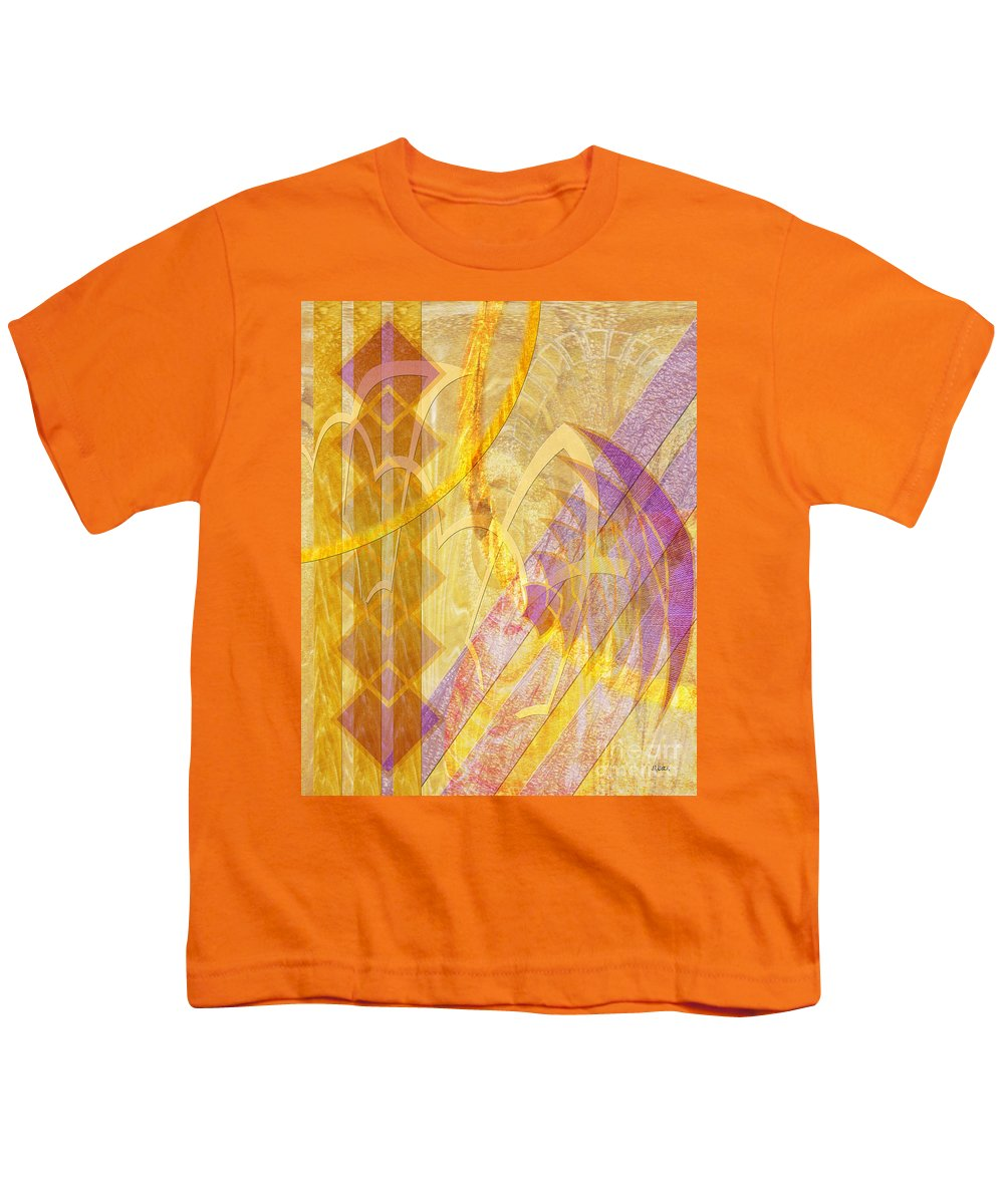Gold Fusion Youth T-Shirt featuring the digital art Gold Fusion by John Beck