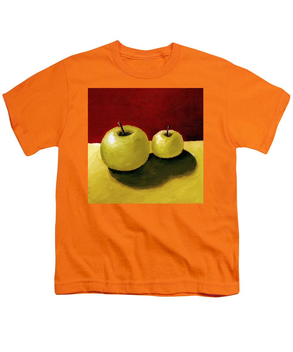 Apple Youth T-Shirt featuring the painting Granny Smith Apples by Michelle Calkins