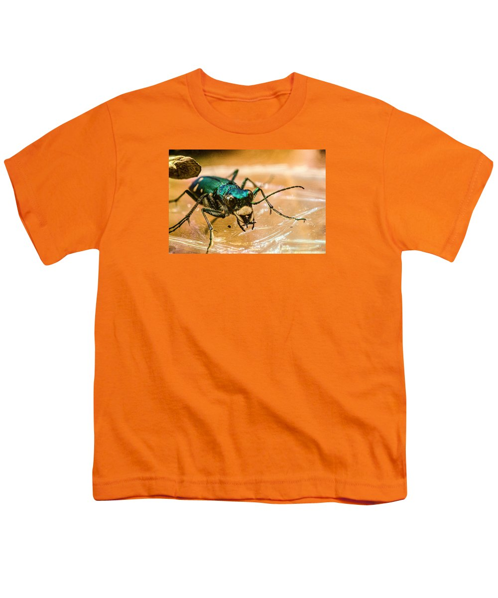 Green Youth T-Shirt featuring the photograph Green And Mean by Douglas Barnett