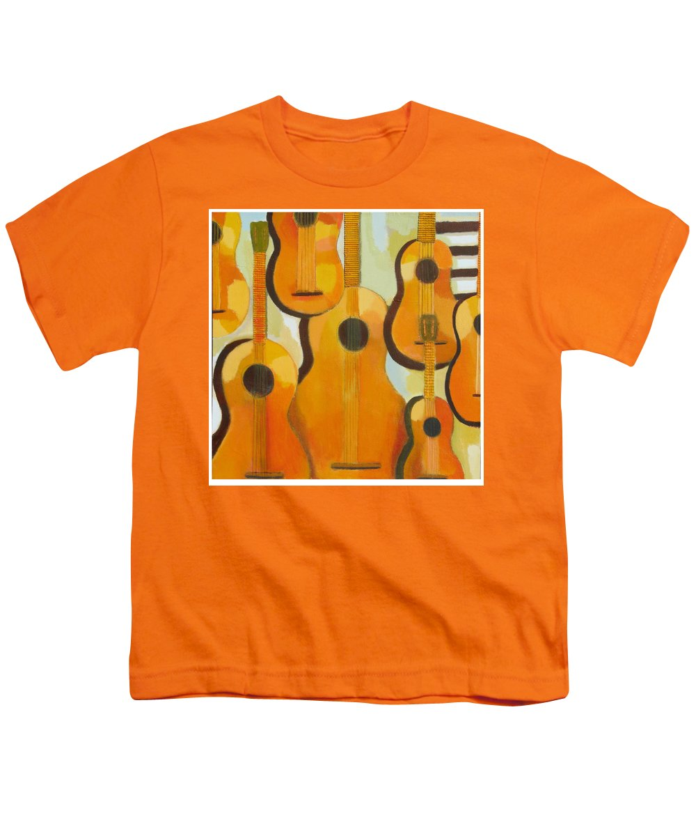 Abstract Youth T-Shirt featuring the painting Guitars by Habib Ayat